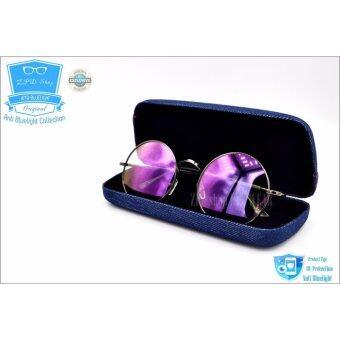 แว่นตากรองแสง ZPDshop รุ่น PR-40 (กรองแสงคอม กรองแสงมือถือ ถนอมสายตา) สี Metalic