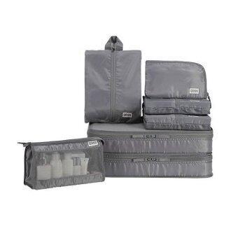 Zreeelz Fashion travel Set ชุดจัดระเบียบในกระเป๋าเดินทาง( สีเทา )