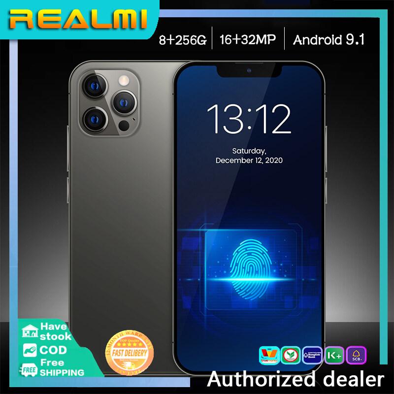 โทรศัพท์มือถือ Realmi โทรศัพท์ราคาถูกๆ Ram8G+Rom256G โทรศัพท์มือถือ 6.7 นิ้ว Android9.1Smartphones โทรศัพท์ถูกๆ มือถือ ประกันศูนย์ 1 ปี โทรศัพท์มือถือ รุ่น รุ่นใหม่ จอใหญ หน่วยความจำขนาดใหญ่รองรับ 5G จริงซิม สแตนด์บาย2ซิม โทรศัพท์มือถือ ใช้แอพธนาคารได้