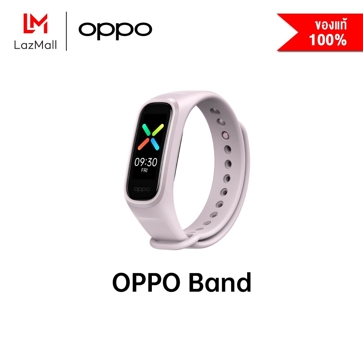 OPPO Band สายรัดข้อมืออัจฉริยะจอ AMOLED วัดออกซิเจนในเลือดได้วัดอัตราการเต้นของหัวใจได้กันน้ำลึกกว่า 50 เมตรรับฟรี! สายนาฬิกาเพิ่มอีก 1 เส้น