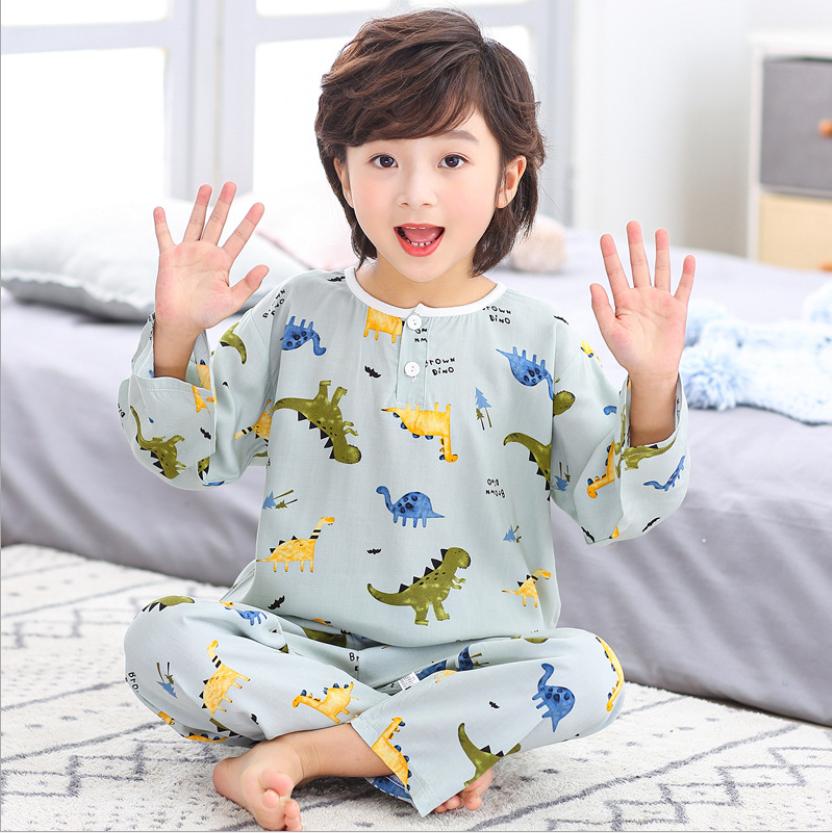 ชุดนอนเด็ก ชุดนอนเด็กผู้ชายสำหรับหน้าร้อนผ้าสปันคอตตอนซิลค์ บางนิ่มใส่สบายคลายร้อน (มีสินค้าพร้อมส่งจาก กทม แถมของเล่นทุุกชุดจ้าา)