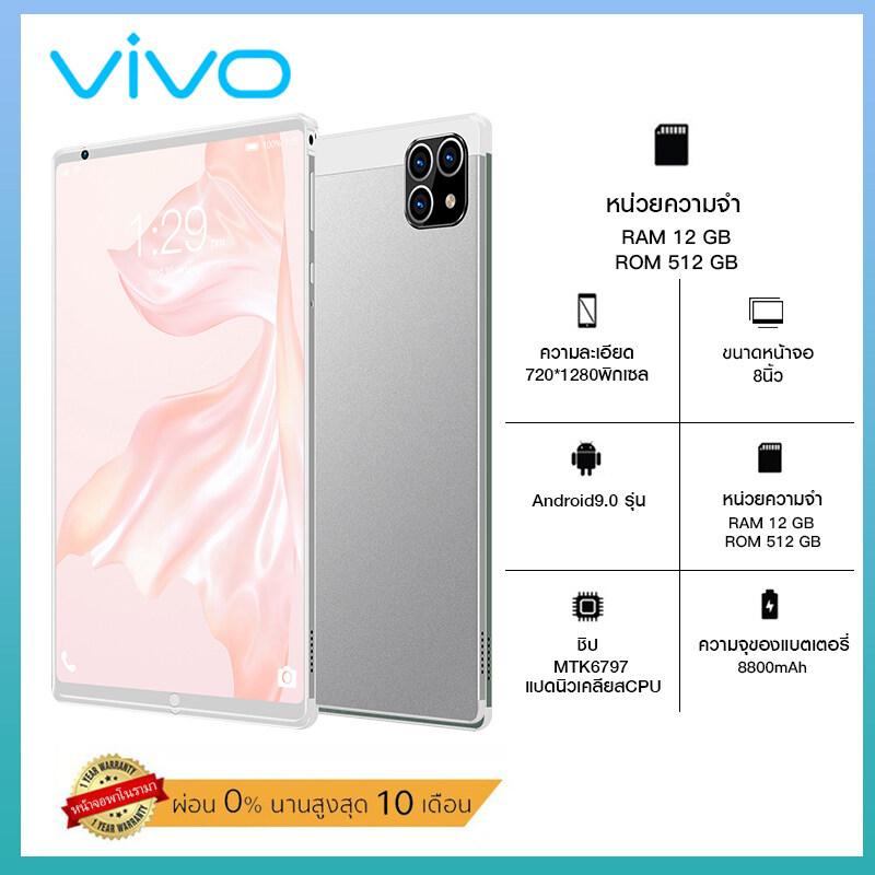 แท็บเล็ตใหม่ vivo แท็บเล็ต โทรได้ Tablet 4g/5G แท็บเล็ตราคาถูกScreen Dual Sim 5G Andorid จัดส่งฟรี รองรับภาษาไทย หน่วยประมวลผล 10-core Screen Dual Sim 5G แท็บเล็ตสำหรับเล่นเกมราคาถูก RAM12G ROM512G ไอเเพ็ด แท็บเล็ตถูกๆ
