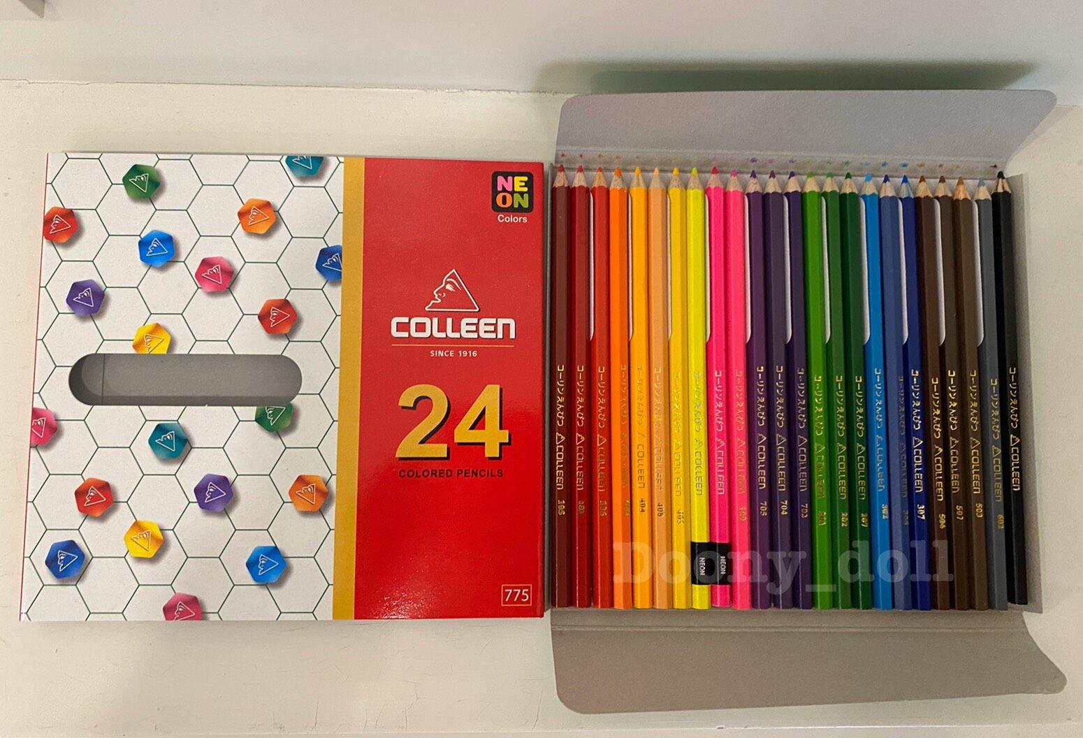 ?ถูกที่สุด!?สีไม้คอลลีน (Colleen) 12/24/36/48/60สี ของแท้ 100%