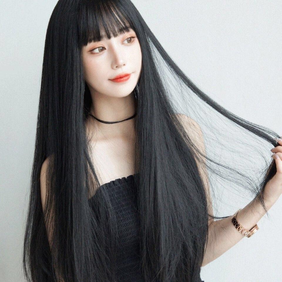 วิกผมหน้าม้า ยาว วิกผมคอสเพลย์ วิก ผมปลอม วิกผมยาวตรงหน้าม้า วิก ผมปลอม วิกผมผู้หญิง วิกผมยาวเกาหลี Long wig วิกผมยาวผู้หญิง วิกผม ผมปลอม