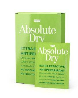 Absolute Dry Wipes ผลิตภัณฑ์ระงับเหงื่อสำหรับมือเท้ารักแร้หน้าผาก 10 ซอง