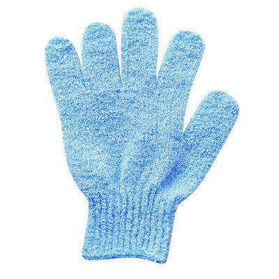 LIFE HUK ถุงมืออาบน้ำสิ่งประดิษฐ์ผ้าขนหนูห้านิ้วถูโคลนและด้านหลังสองด้าน