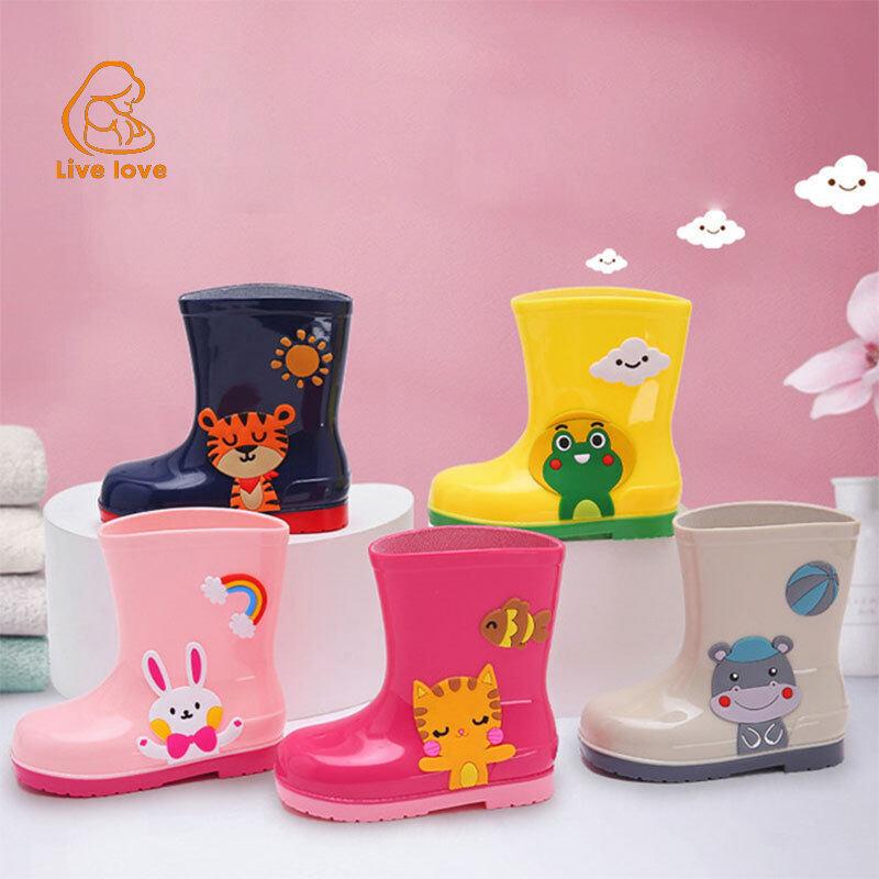 LL รองเท้ากันฝนสำหรับเด็กนักเรียนการ์ตูนเกาหลีสบายรองเท้าน้ำ