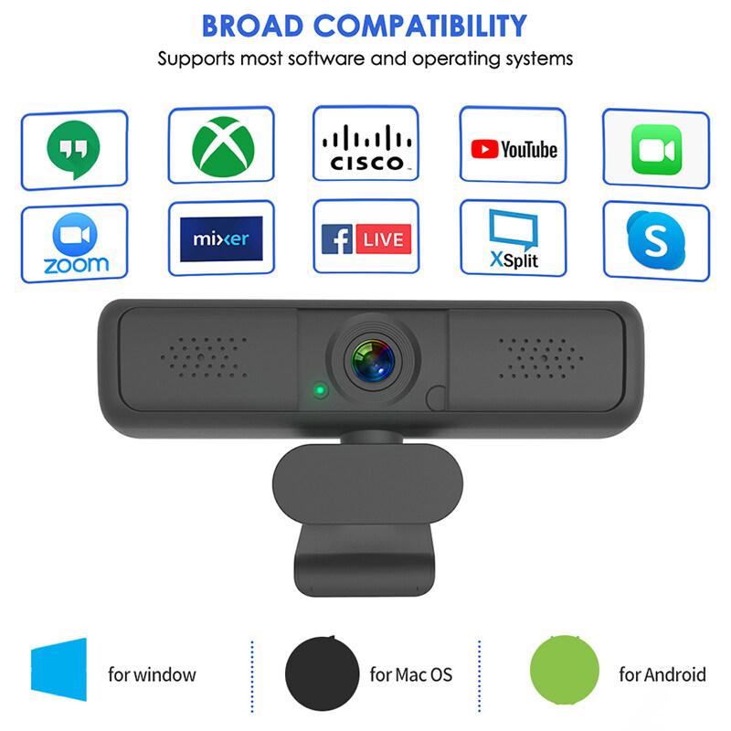 (จัดส่งภายใน 24 ชั่วโมง)กล้องเว็บแคม HDWeb 1080P พร้อมไมโครโฟน HD ในตัว 1920 x 1080p Web Cam