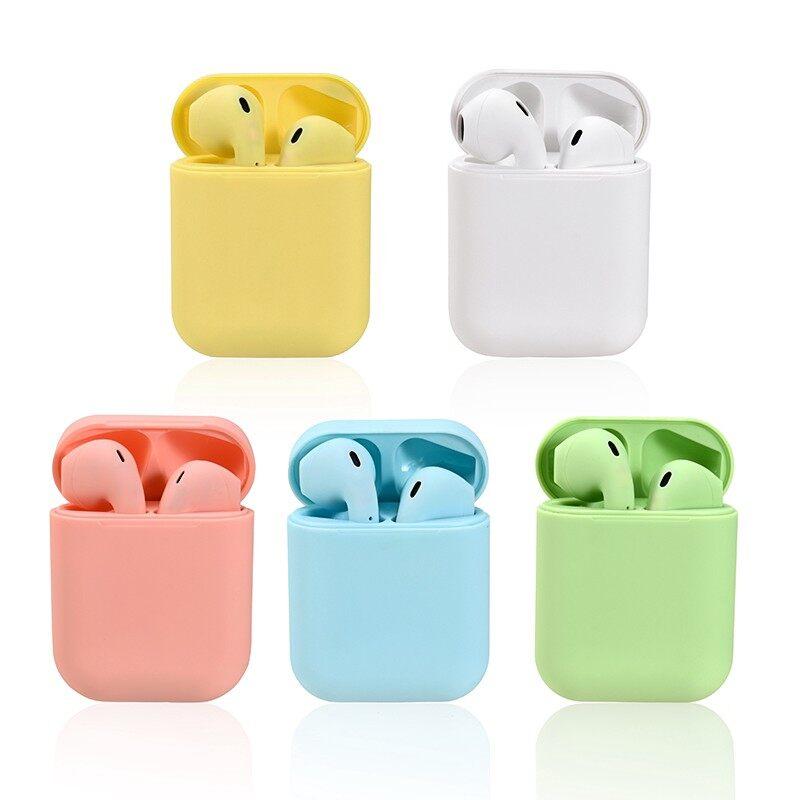 (จัดส่งภายใน 3 วัน)Macaron Inpods 12 tws หูฟัง หูฟังบลูทูธ หูฟังไร้สาย พร้อมเคสชาร์จ ที่อุดหูสเตอริโอ เหมาะสำหรับ  Android Huawei Xiaomi Samsung OPPO VIVO
