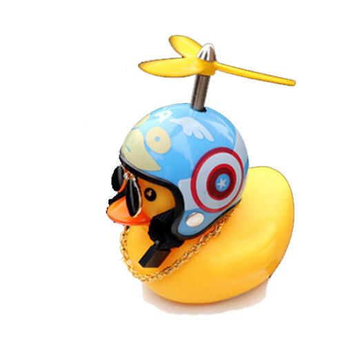 (พร้อมส่ง) ตุ๊กตาเป็ดเหลือง กระดิ่งจักรยาน ได้พร้อมสาย ตุ๊กตาติดรถ เป็ดหมวกกันน็อก เป็ดติดมอไซ เป็ดติดรถจักรยาน ของแต่งรถ