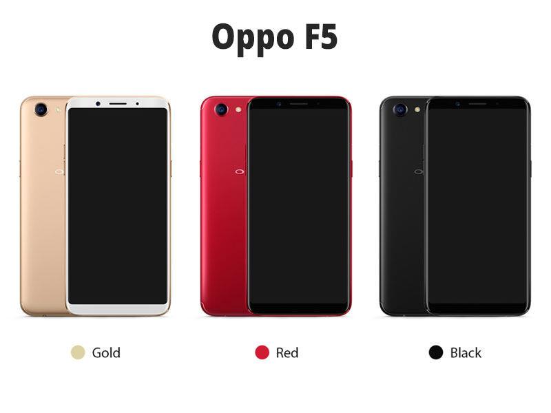 OPPO F5 เครื่องแท้100% ( Ram 4 Rom 32 GB )/(Ram 4 Rom 64 GB) รับประกันร้าน หน้าจอ 6 นิ้ว แบต 3200 mAh