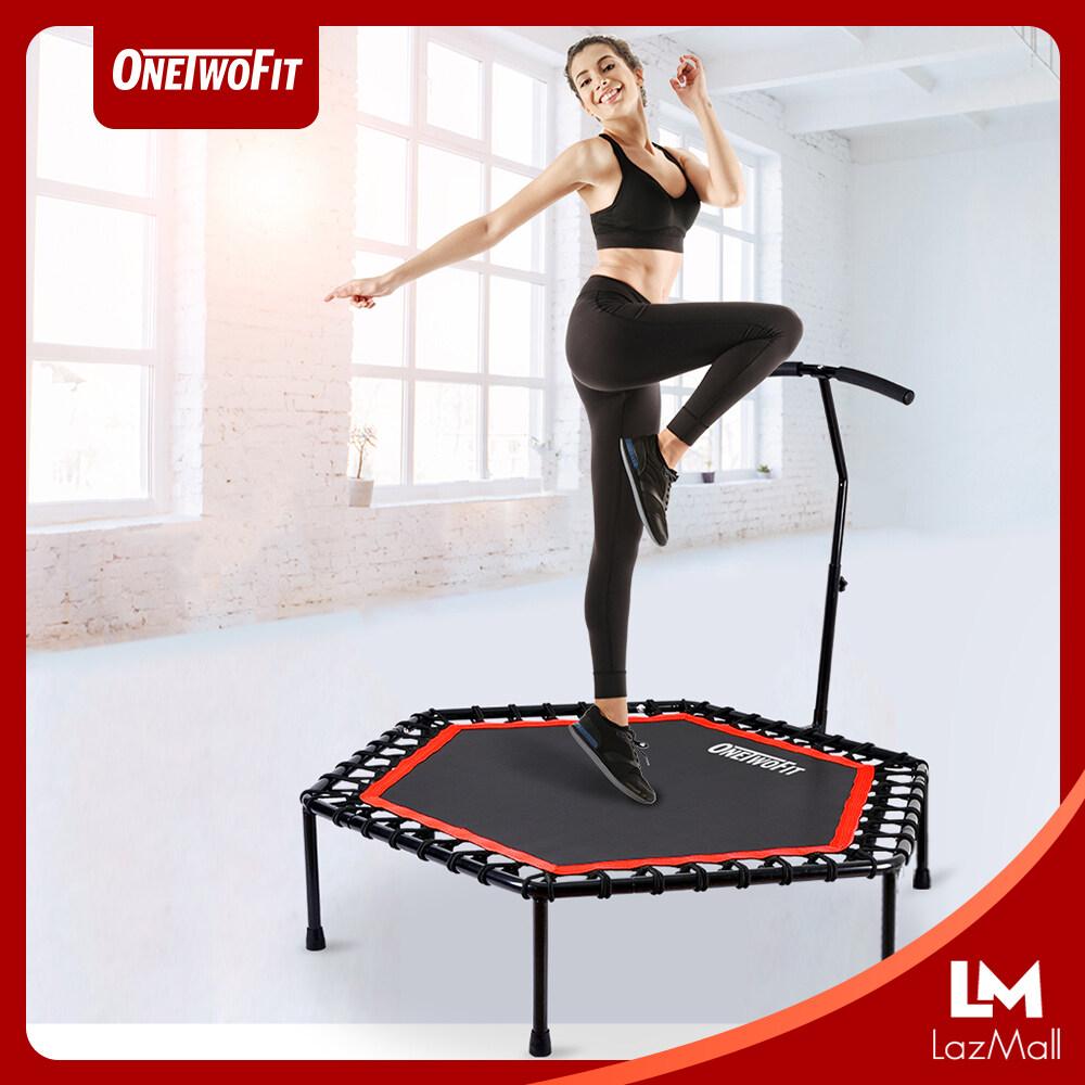 OneTwoFit เทมโพลีน ขนาด 48 นิ้ว แทรมโพลีน เตียงกระโดด ที่กระโดด ออกกำลังกาย ฟิตเนต อุปกรณ์กีฬา