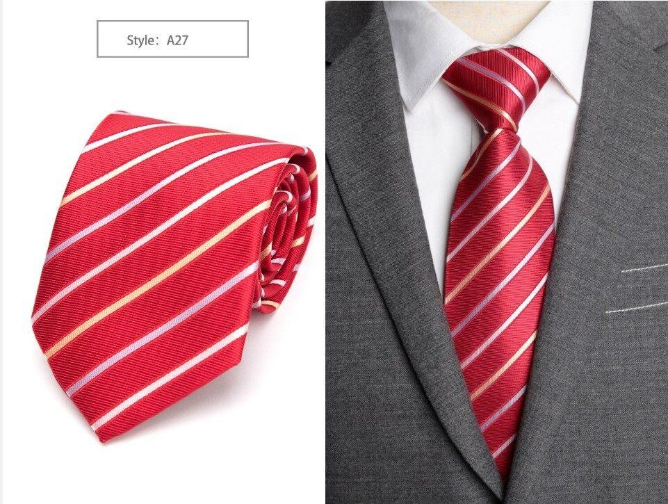 เนคไท เน็คไท Ties Men Classic Business Formal Business Wedding Dress Tie Mens Gifts Stripe Grid Fashion Shirt Dress Accessories 8cm Necktie