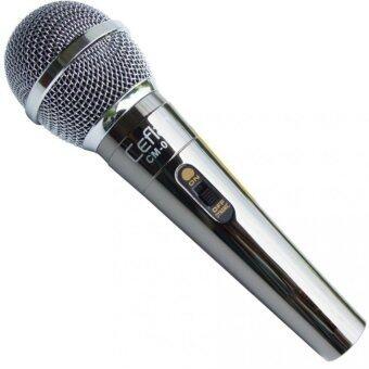 Ceflar Microphone ไมโครโฟน ร้องคาราโอเกะ เคสโลหะสี Titanium รุ่น CM-001