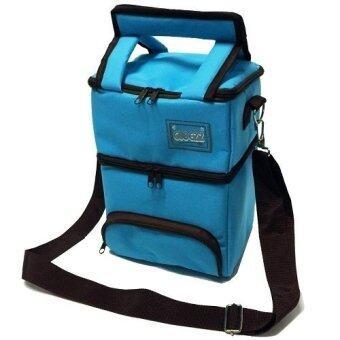 CUBEZZ กระเป๋าเก็บความเย็น 2 ชั้น Tiffin (สีฟ้า)