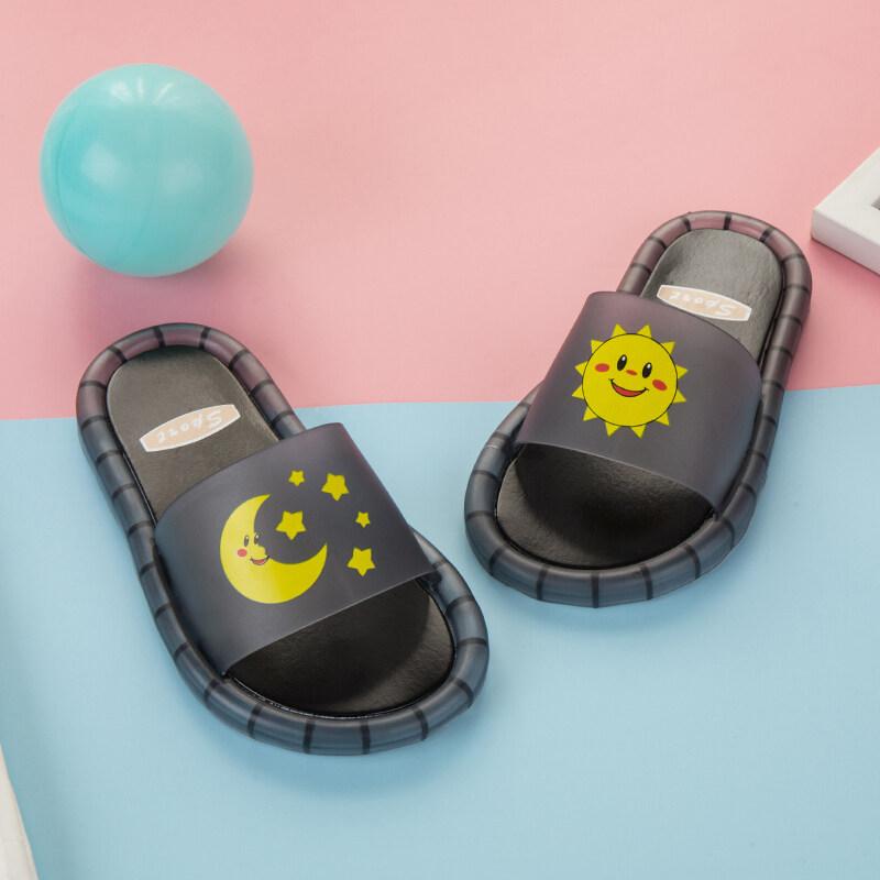 รองเท้าแตะเด็กผู้ชาย รองเท้าแตะเด็กผู้หญิง รองเท้าแตะแสนสนุกที่เปล่งประกายเมื่อคุณเหยียบ รองเท้าแตะสีสันสดใส ภาพการ์ตูน