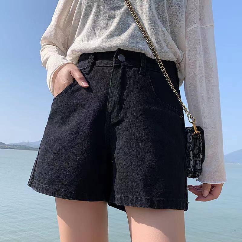 chen shop 2021 ใหม่เกาหลีรุ่นหลวมและบางทั้งหมดตรงกับกางเกงนักเรียนทรงเอขากว้างเอวสูง