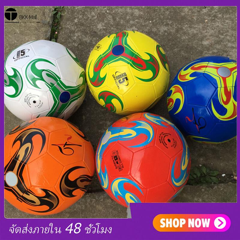 ลูกฟุตบอล ลูกบอล มาตรฐานเบอร์ 5 Soccer Ball มาตรฐาน หนัง PU นิ่ม มันวาว ทำความสะอาดง่าย ฟุตบอล Soccer ball บอลหนังเย็บ ลูกบอล