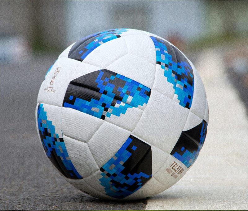 ลูกฟุตบอล เบอร์5 รุ่น 2018 FIFA WORLD CUP Russia KNOCKOUT GLIDE ฟุตบอลโลก หนัง PU100%