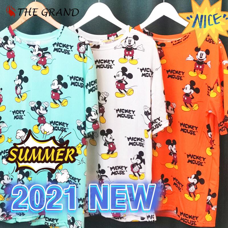 ที่แนะนำโดยเจ้าของ,2021 New เสื้อยืดผู้หญิง ภาพการ์ตูน ,ลายมิกกี้เนื้อผ้านุ่มดีไซน์สดใสสบาย สวมใส่สบาย รับประกันคุณภาพ,3สี M~2XL