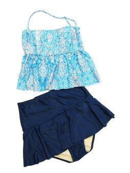 Easy Swim ชุดว่ายน้ำ Two Piece Size XL - สีฟ้า/น้ำเงิน