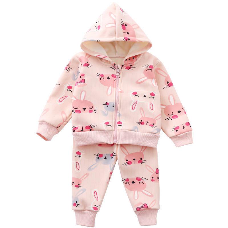 Babyonline(Y281)D5เช็ทชุดกันหนาวนุ่มๆลายการ์ตูนน่ารักสำหรับเด็ก