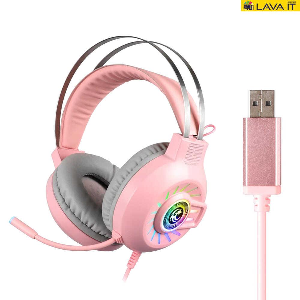 Tsunami M10 Headset 7.1 Gaming หูฟังเกมมิ่งเซอร์ราวด์ 7.1 พร้อมเอฟเฟคแสง RGB และไมค์โครโฟนลดเสียงรบกวน ✔รับประกัน 2 ปี