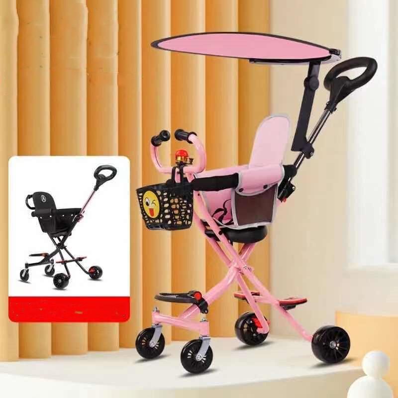[พร้อมส่ง] รถเข็นเด็ก V3 Stroller รถเข็นเด็กพับเก็บได้ เข็นได้2ทิศทาง เข็มขัดนิรภัย100% ด้ามจับ360องศา