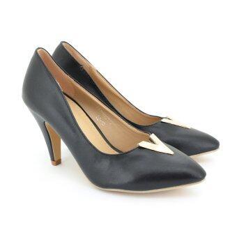 Fooitnรองเท้าผู้หญิง คัทชูส้นสูงทรงPump LADIES'HEELS PUMP SHOESสี ดำ รหัส 7516501