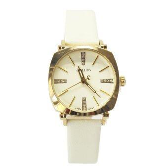 Julius นาฬิกาข้อมือผู้หญิง สายหนัง รุ่น JA-388-cream +
