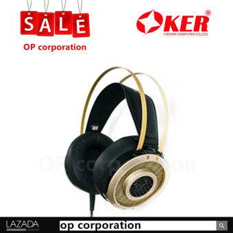 OKER Hi-Fi Stereo Headphones Gaming หูฟังเกมมิ่ง รุ่น K2 \u0096 (gold)