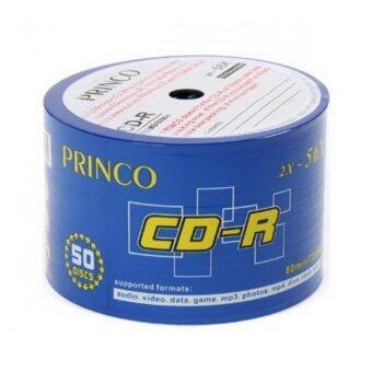 Princo CD-R WHITE 700MB PACK 50 Discs 52X เกรดA 12หลอด (1ลัง/600แผ่น)