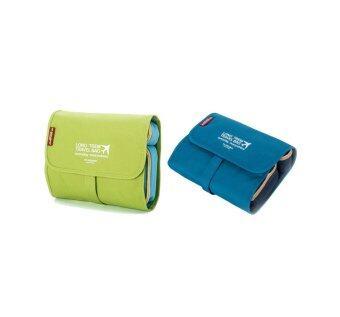 Productdd Msquare Organizer Bag Travel Bag กระเป๋าอเนกประสงค์ 2pcs (Green/Blue)