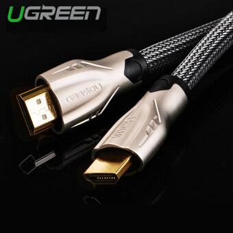 UGREEN HDMI Cable Nylon Weaves with Zinc Alloy Metal Connector Support 3D 4K x 2K (12m) - Intl
